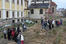 Prezentace nových archeologických objevů v bývalém klášterním areálu, který obklopuje baziliku na Velehradě