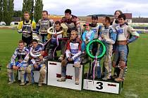 Plochodrážníci AK Březolupy (vpravo) si představovali, že po domácím závodě vystoupí na vyšší než třetí stupínek