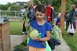 Na zeleninové planetě musely děti poznávat o jaký druh zeleniny jde.
