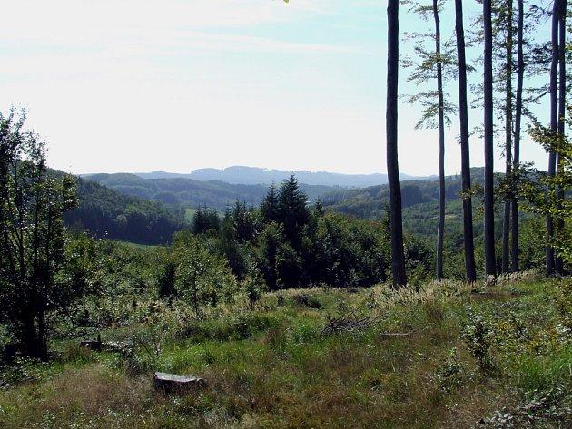 Malebná krajina Chřibů.