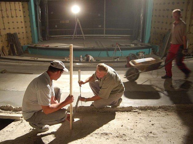 Rekonstrukce interiéru kina Hvězda.