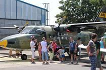 Po celou sobotu si návštěvníci areálu Slováckého aeroklubu Kunovice mohli užívat akce spojené s letectvím.