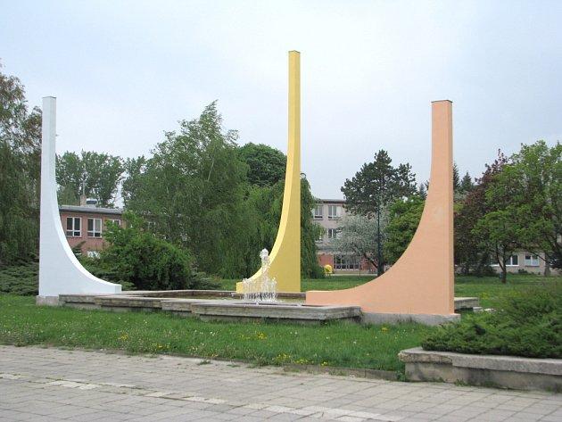 Tak vypadá opravená kašna před sportovní halou v Uherském Hradišti.