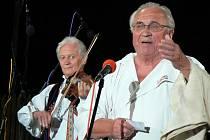 Luboš Holý (vpravo) s Martinem Hrbáčem.