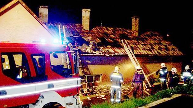 Rychlý zásah u požáru ve Zdounkách.