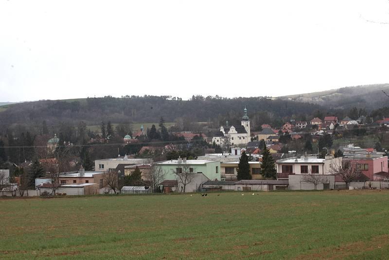 Centrum městyse Buchlovice.