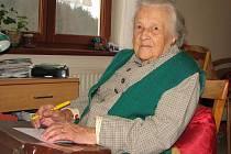 Marie Běla Linhartová je nejstarší obyvatelkou Velehradu i Vincentina.