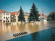Takto vypadalo Mariánské náměstí a morový sloup.