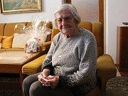 Veronika Starobová (99 let) vzpomíná v dobrém především na Baťu. Dnes žije ve Strání se svým synem a snachou.