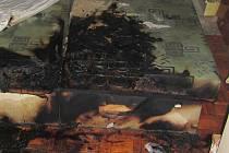 Požár postele na sídlišti Mojmír v Uherském Hradišti