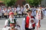 Soutěžní pár číslo  26 - Michaela Jančová a Martin Stojaspal, Dolní Němčí, starší stárci na hodech 5. - 6. května.