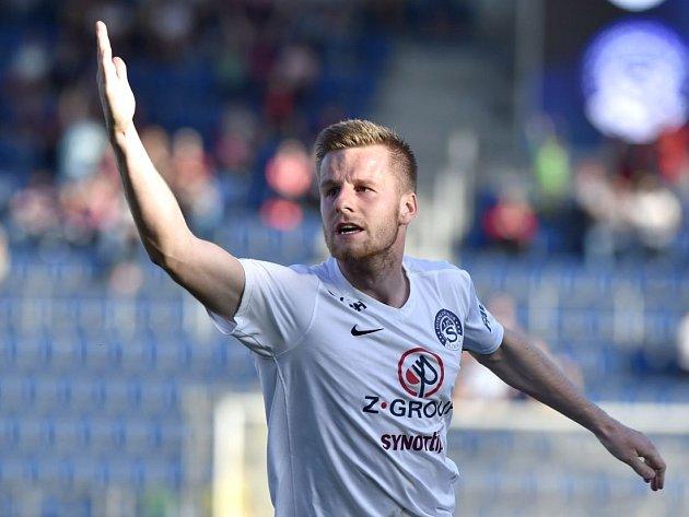 Jan Juroška dal vítězný gól Slovácka v derby s Brnem