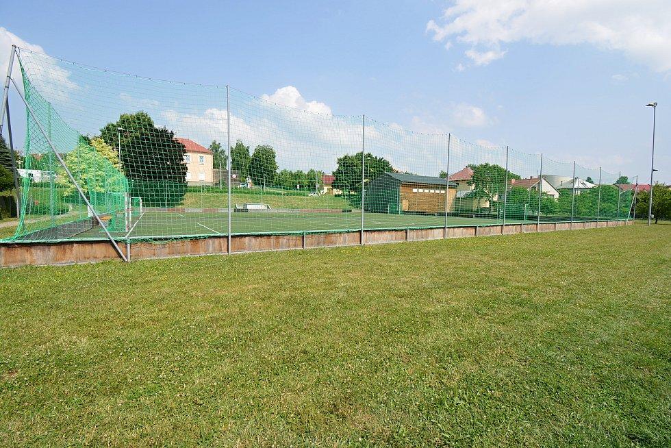 Sportovní areál v Sazovicích, snímek z 24. června 2021.