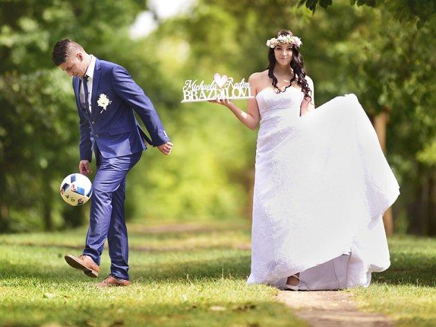 Soutěžní svatební pár číslo 14 - Michaela a Radim Brázdilovi, Jankovice