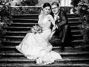 Soutěžní svatební pár číslo 3 - Markéta a Jaroslav Pejsarovi, Milovice.