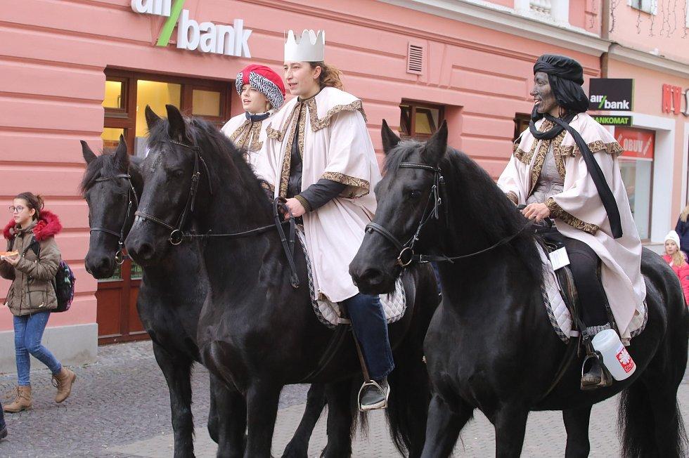Tříkrálová sbírka 2018 v Uherském Hradišti.
