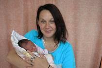 Eva Obšívačová a dcera Lenička, 50 cm, 3550 g, narozena 14. 6.Solanec pod Soláněm.