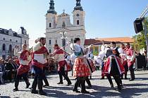 Slavnosti vína a otevřených památek v Uherském Hradišti. Ilustrační foto.