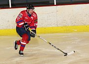 Hokejisté HC Uherské Hradiště (v červeném) porazili Velkou Bíteš 6:3.