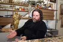 Restaurátor Petr Káňa.
