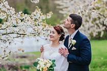 Soutěžní svatební pár číslo 37 - Hana a Petr Šinclovi, Senice na Hané