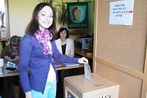 Prvovolička z Hostějova Terezie Vaculíková, která dosáhla 18 let den před volbami, ve čtvrtek 24. října.