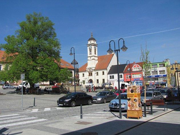 Masarykovo náměstí v Uherském Brodě.