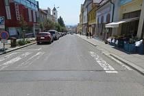 Nehoda na ulici Tkalcovská.