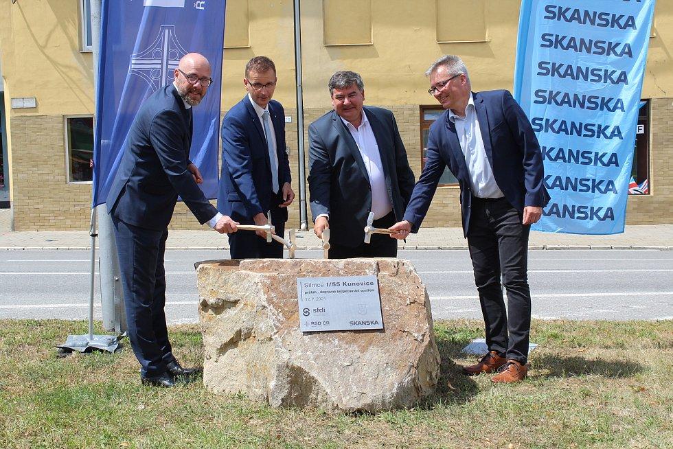 Zahájení úpravy průtahy města Kunovice