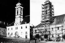 Ve třicátých letech 20. století měla brodská radnice dva vchody z Masarykova náměstí.
