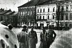 Okupační armáda na nám. T.G.Masaryka 16. března 1939. Místo: UHERSKÉ HRADIŠTĚ