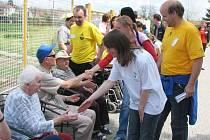 Vysokoškoláci navštěvují v průběhu Studentských Velehradů handicapované osoby ve Vincentinu.