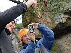 Horolezci zdobili na Barborce borovičku.
