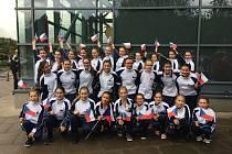 Na mistrovství Evropy v Anglii obsadily Hlucké mažoretky druhé místo v kategorii Show.