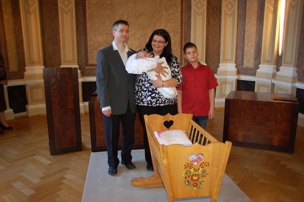 Hradišťská radnice přivítala prvního občánka roku 2012.
