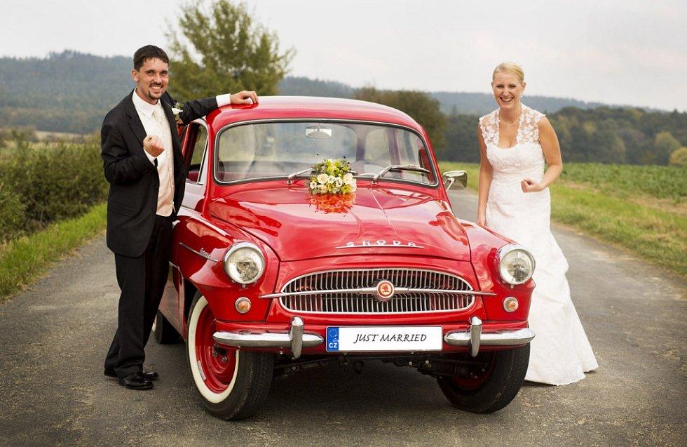 Soutěžní svatební pár číslo 219 - Karel a Veronika Pallovi, Pavlovice u Přerova.