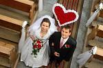 3. místo v soutěži O nejkrásnější svatební pár roku 2014 získali manželé Jitka a Radek Urbanovi z Vysokých Žibřidovic.