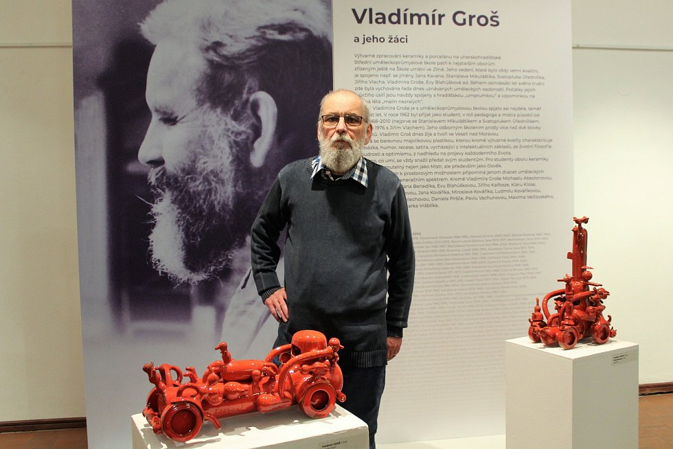 Vernisáž dvou výstav v Galerii Slováckého muzea v Uherské Hradišti. Vladimír Groš.
