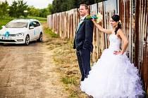 1. místo v soutěži O nejkrásnější svatební pár roku 2014 získali manželé Jana a Ondřej Mošťkovi z Vlčnova.