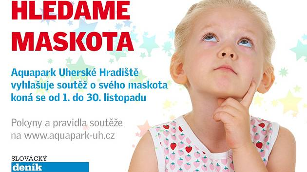 Hledáme maskota Aquaparku Uherské Hradiště.