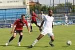 Fotbalisté Slovácka (bílé dresy) v dalším přípravném zápase zdolali Liptovský Mikuláš 3:0.
