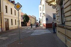 Ulice Františkánská v Uherském Hradišti