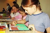 Malým výtvarníkům poskytne hodně námětů návštěva staroměstského Památníku Velké Moravy.