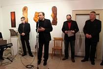 Výstava Jaroslava Bureše k autorovým sedmdesátinám.