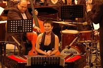 Zuzana Lapčíková spolu se 130 symfoniky, sboristy, jazzovými ekvilibristy a pod taktovkou dirigenta Stanislava Vavřínka z Filharmonie Bohuslava Martinů doslova zmagnetizovala publikum