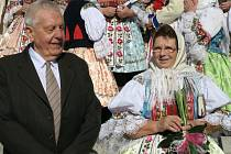 Diamantová svatba manželů Marie a Ludvíka Ježkových z Dolního Němčí.
