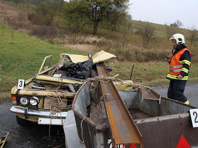 Tragická dopravní nehoda u Uherského Brodu.