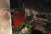 Požár kotelny v rodinném domě v Kostelanech.