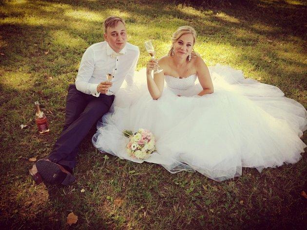 Soutěžní svatební pár číslo 113 - Klára a Miroslav Pospíšilovi, Postoupky-Kroměříž