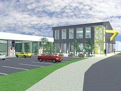 Kromě herního centra budou v novém komplexu sídlit i prodejny nebo cukrárna.